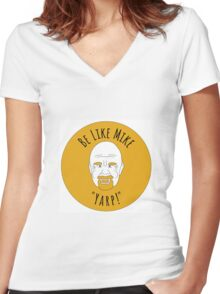 """Be Like Mike """"Yarp!"""" Big Logo Women's Fitted V-Neck T-Shirt"""