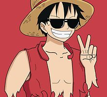 "ONE PIECE: ""The Cool Captain"" Luffy In Shades by TeemoTaylor"