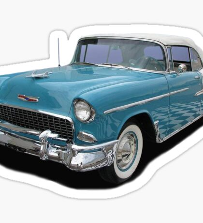 Baby Blue Chevy Belair Sticker