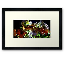 Backlit Flower Bouquet  Framed Print