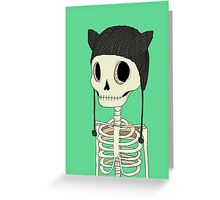 Skeleton Kitty Greeting Card
