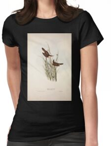 John Gould The Birds of Europe 1837 V1 V5 108 Reed Warbler Womens Fitted T-Shirt