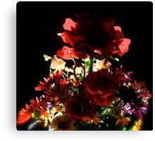 Backlit Flower Bouquet Canvas Print