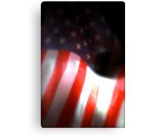 Backlit American Flag Canvas Print