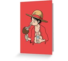 ONE PIECE: Midnight Snack Luffy Greeting Card