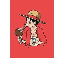 ONE PIECE: Midnight Snack Luffy Photographic Print