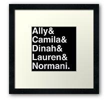 Fifth Helvetica - White Framed Print