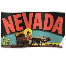 Nevada Vintage Travel Decal Poster