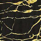 Black & Gold Marble Print by artonwear