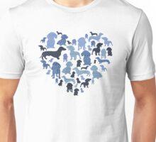 Denim Daschunds Unisex T-Shirt