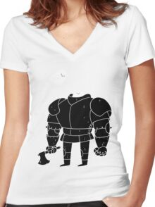 Spooky Armor Women's Fitted V-Neck T-Shirt