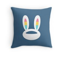 Pogo Space Bunny White Throw Pillow