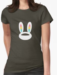 Pogo Space Bunny White Womens Fitted T-Shirt