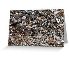 scrap metal Greeting Card