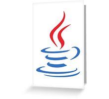 Java - Programming Language Logo Greeting Card