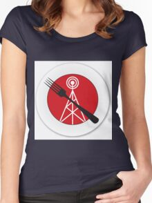 Edacious - Food Talk for Gluttons (No Text) Women's Fitted Scoop T-Shirt
