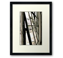 Black and White Window Framed Print