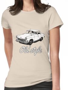 old car retro vintage old timer old school Womens Fitted T-Shirt