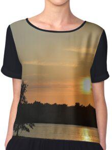 Golden Sunset Across Mozingo Lake Chiffon Top