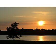 Golden Sunset Across Mozingo Lake Photographic Print