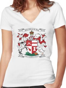 Willy Nilly Coat of Arms Women's Fitted V-Neck T-Shirt