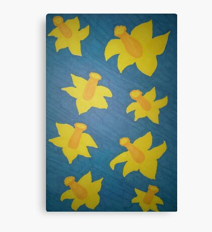 Pop Art Daffodils Canvas Print