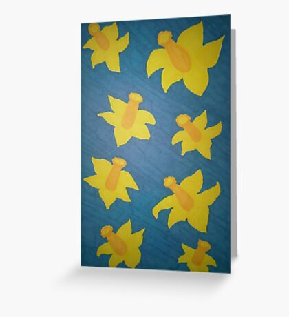 Pop Art Daffodils Greeting Card