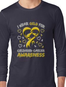 Childhood Cancer Awareness Long Sleeve T-Shirt