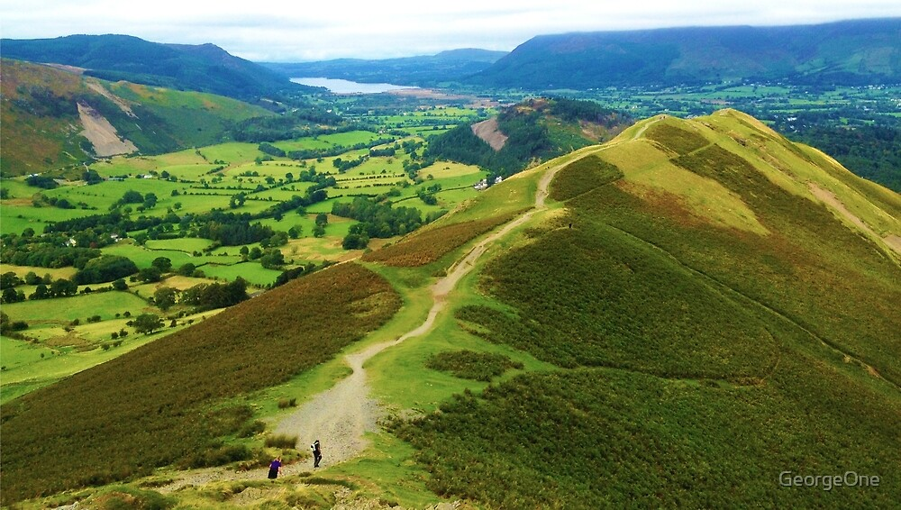 Quot Catbells Lake District Uk Quot By Georgeone Redbubble