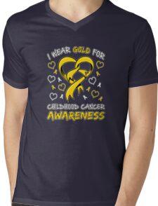 Childhood Cancer Awareness Mens V-Neck T-Shirt