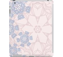 Rose Quartz and Serenity Blue design with abstract snowflakes iPad Case/Skin
