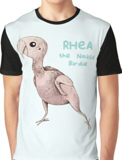 Rhea the Naked Birdie Graphic T-Shirt