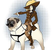 Cavalry Pug Rider by CatAstrophe