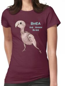 Rhea the Naked Birdie Womens Fitted T-Shirt