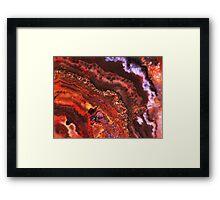Ripples (Sarape Agate) Framed Print