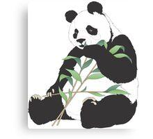Panda And Bamboo Canvas Print