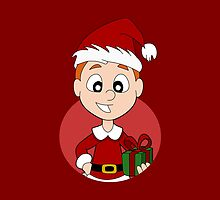Christmas boy cartoon by Radka Kavalcova