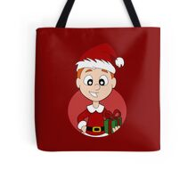 Christmas boy cartoon Tote Bag