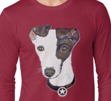 Greyhound Portrait Long Sleeve T-Shirt
