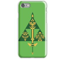 Sword and Shield (Green) iPhone Case/Skin