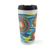 Sun Face Waves Travel Mug