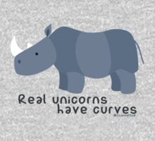 Unicorn curves Kids Tee