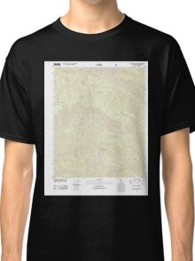 USGS TOPO Map California CA Big Pine Mountain 20120405 TM geo Classic T-Shirt