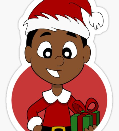 Christmas boy cartoon Sticker