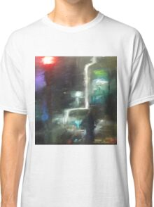 Abstract winter melbourne cityscape  Classic T-Shirt