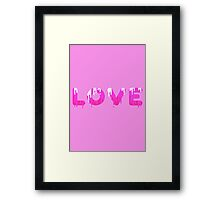 Dripping paint love  Framed Print