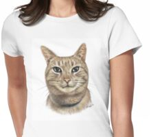 Colour Pencil Portrait of Opal the Cat Womens Fitted T-Shirt