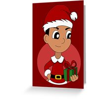 Christmas boy cartoon Greeting Card