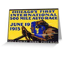 1915 Chicago Auto Race Greeting Card