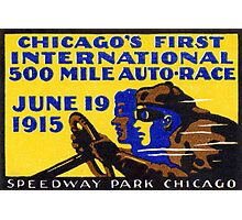 1915 Chicago Auto Race Photographic Print